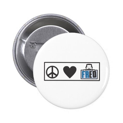 Amor Fred de la paz Pin Redondo 5 Cm