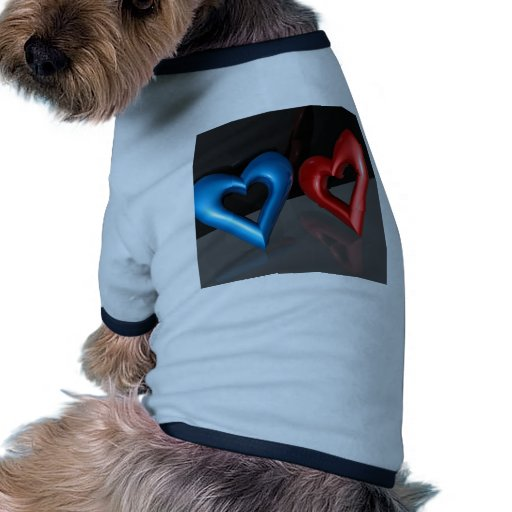 Amor fresco abstracto del chica del muchacho camiseta con mangas para perro