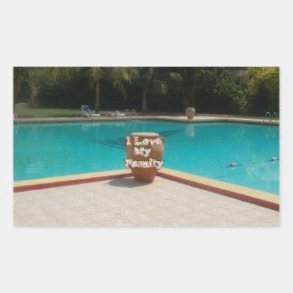 Amor fresco de la cara I de la piscina de Hakuna Rectangular Altavoz