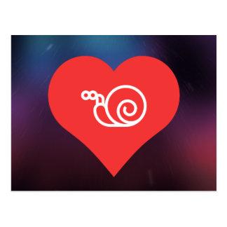 Amor fresco Escargot Tarjetas Postales
