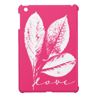 Amor frondoso del grabar en madera en rosa de la