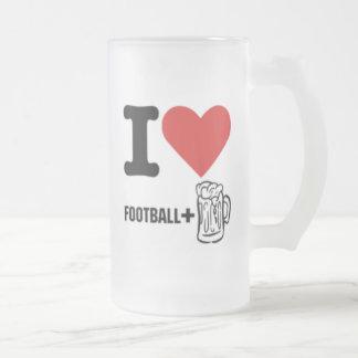 Amor-fútbol-cerveza I Taza Cristal Mate