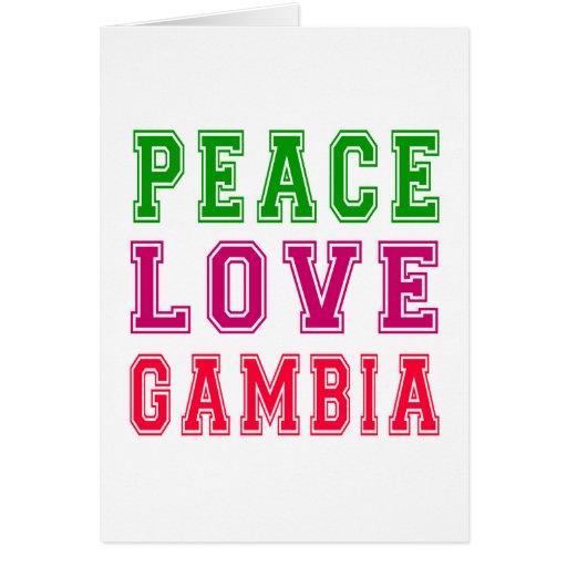 Amor Gambia de la paz Tarjetas