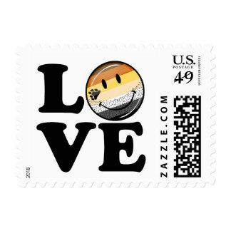 Amor gay de la bandera del orgullo del oso timbre postal