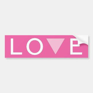 Amor gay y orgullo etiqueta de parachoque