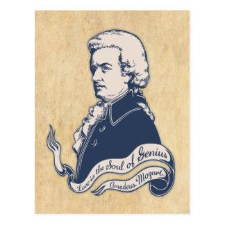 Amor = genio - Mozart Tarjeta Postal