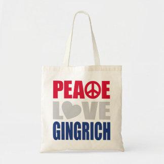 Amor Gingrich de la paz Bolsa De Mano