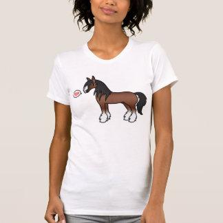 Amor gitano de Clydesdale del condado de Vanner de Camisetas