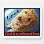 Amor Goldendoodles Alfombrilla De Ratón