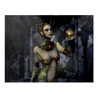 Amor gótico del futuro de los chicas postal