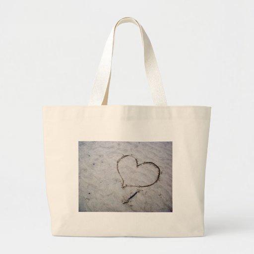 Amor grabado al agua fuerte bolsa de mano