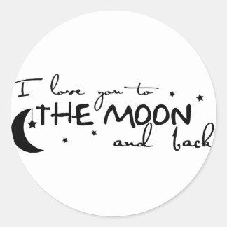 Amor grande a los pegatinas de la luna