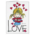 Amor grande FL-004 Tarjeta De Felicitación