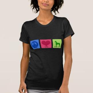 Amor great dane de la paz camiseta
