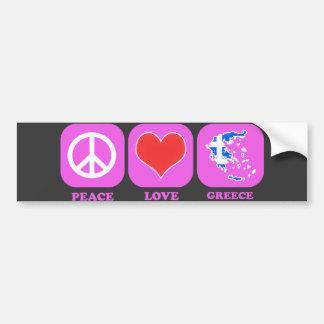 Amor Grecia de la paz Pegatina Para Auto