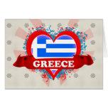 Amor Grecia del vintage I Felicitaciones