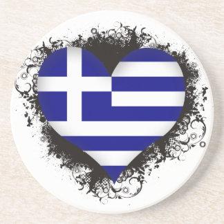 Amor Grecia del vintage I Posavasos Personalizados
