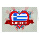 Amor Grecia del vintage I Tarjeton