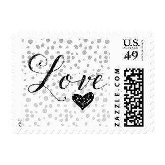 Amor gris de la expresión sello