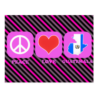 Amor Guatemala de la paz Tarjetas Postales