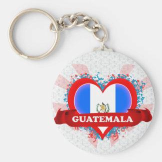 Amor Guatemala del vintage I Llavero Personalizado