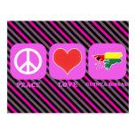 Amor Guinea-Bissau de la paz Tarjetas Postales