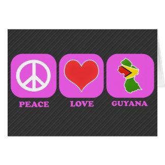 Amor Guyana de la paz Tarjeton