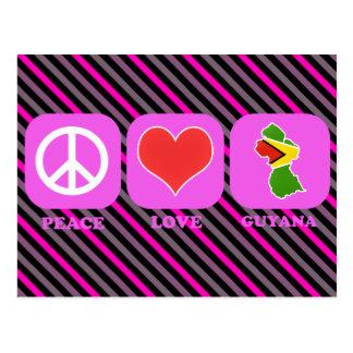 Amor Guyana de la paz Tarjeta Postal