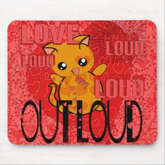 Amor hacia fuera ruidosamente - más corazones tapetes de ratones