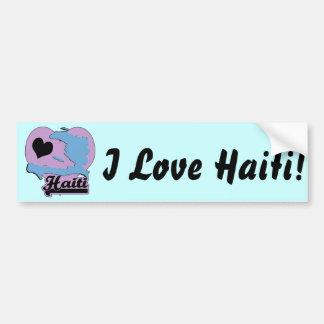 Amor Haití Pegatina De Parachoque