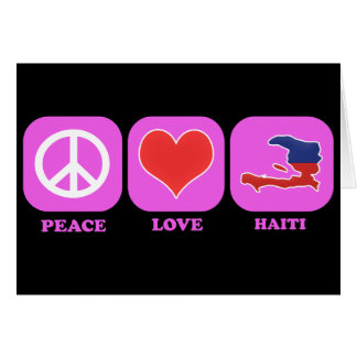 Amor Haití de la paz Felicitación