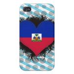 Amor Haití del vintage I iPhone 4 Cárcasa