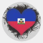 Amor Haití del vintage I Pegatina Redonda