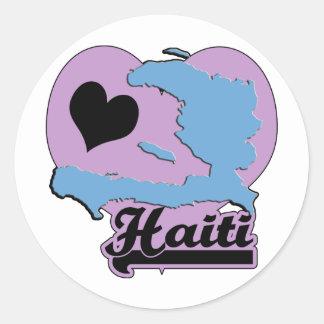 Amor Haití Pegatina Redonda
