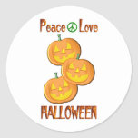 Amor Halloween de la paz Pegatina Redonda