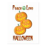 Amor Halloween de la paz Postal