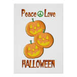 Amor Halloween de la paz Posters