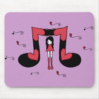 Amor Hangin con la música Mousepad Tapete De Raton