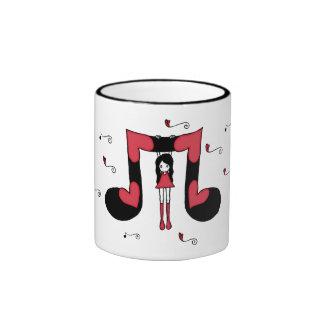 Amor Hangin con la taza de la música