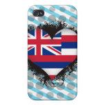 Amor Hawaii del vintage I iPhone 4 Protectores