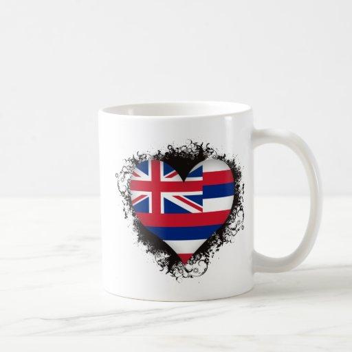 Amor Hawaii del vintage I Taza De Café