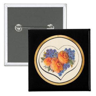 Amor Heart-1 de Decoupage Pin