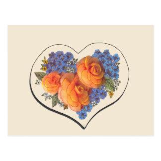 Amor Heart-1 de Decoupage Tarjeta Postal