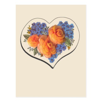 Amor Heart-1 de Decoupage Tarjetas Postales