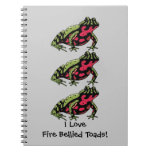 Amor hinchado fuego del sapo (personalizable) cuaderno