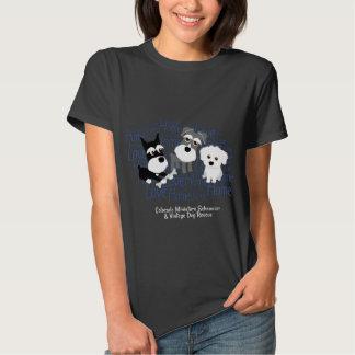 Amor, hogar - camiseta oscura del Schnauzer Remera