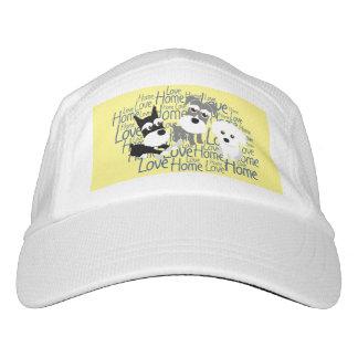 Amor, hogar - gorra de béisbol del Schnauzer Gorra De Alto Rendimiento