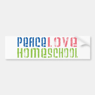 Amor Homeschool de la paz Etiqueta De Parachoque