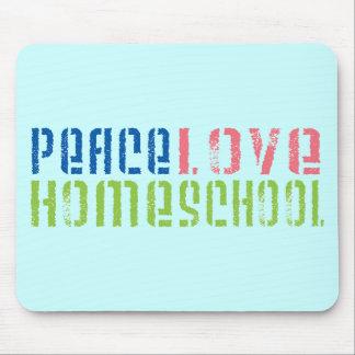 Amor Homeschool de la paz Mousepads