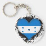 Amor Honduras del vintage I Llavero Redondo Tipo Pin